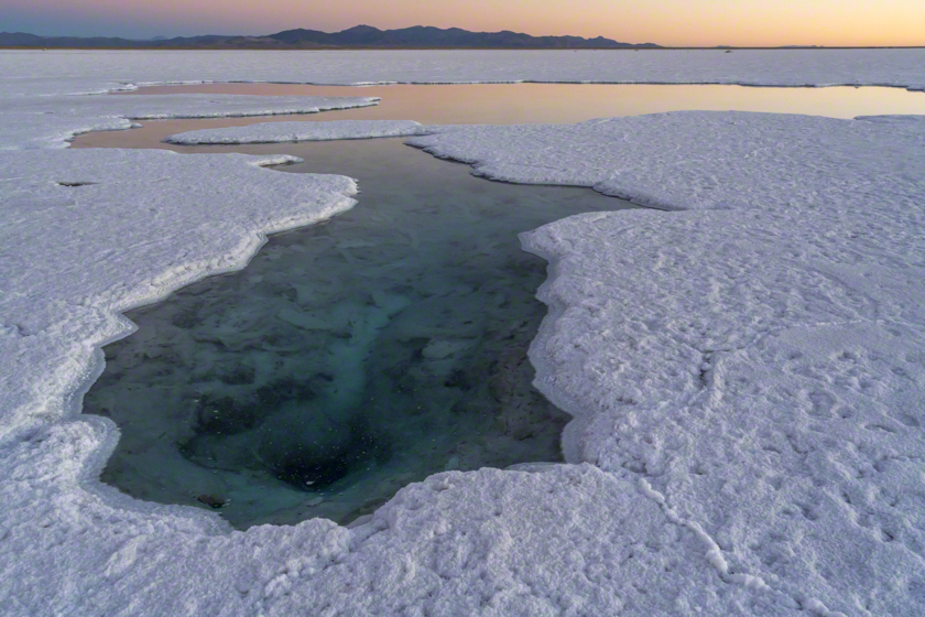 Salt pond in the Atacama desert, Argentina